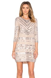 Parker Black Petra Embellished Dress Beige