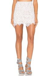 For Love And Lemons Rosemary Skirt White