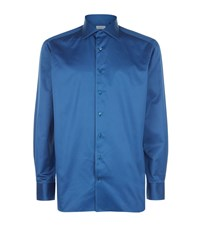 Zilli Satin Look Shirt Male Blue