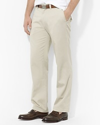 Polo Ralph Lauren Flat Front Chino Pants Classic Fit Classic Stone