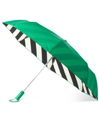 Kate Spade New York Travel Umbrella Green
