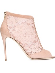 Dolce And Gabbana 'Bette' Ankle Boots Pink And Purple