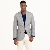 J.Crew Pre Order Ludlow Sportcoat In Grey Checked Irish Linen