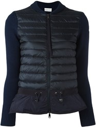 Moncler Knitted Sleeve Jacket Blue