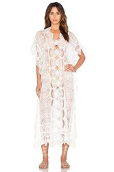 Nightcap Seashell Lace Caftan White