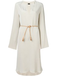 Joseph Belted Dress Nude And Neutrals