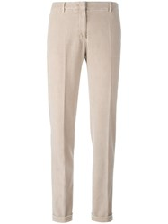 Incotex Straight Trousers Nude Neutrals