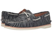 Sperry Gold Cup A O Seasonal Black White Women's Lace Up Casual Shoes