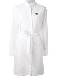 Kenzo 'Mini Tiger' Shirt Dress White