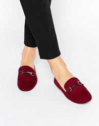 Asos Magical Loafers Oxblood Red