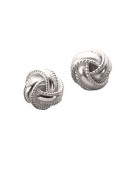 Lord And Taylor Sterling Silver Braided Knot Earrings