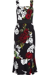 Dolce And Gabbana Floral Print Crepe Dress