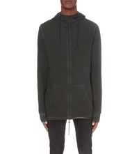 Tiger Of Sweden Slouchy Cotton Jersey Hoody Black