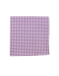 The Tie Bar Gingham Checked Pocket Square Purple