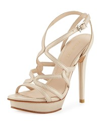 Pelle Moda Farah 2 Strappy Leather Sandal Cream Ivory