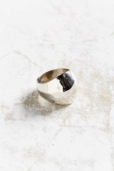 Urban Outfitters Penny Hammered Statement Ring Silver