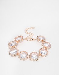 Love Rocks Rose Gold Crystal Bracelet Rosegold