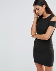 Love Pencil Dress With Cut Out Detail Black