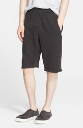 Atm Anthony Thomas Melillo Cutoff Sweat Shorts Charcoal Heather