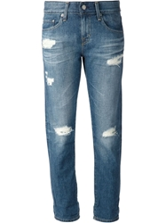 Adriano Goldschmied Distressed Jeans Blue