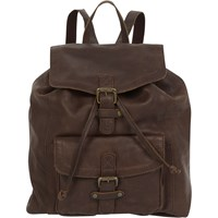 Fat Face Jess Oiled Leather Rucksack Chocolate