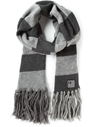 Golden Goose Deluxe Brand Striped Scarf Grey