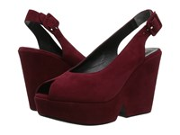 Robert Clergerie Dylanj Cherry Suede Women's Shoes Red