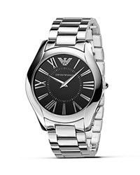 Emporio Armani Slim Stainless Steel Watch 43Mm Silver