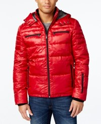 Calvin Klein Men's Water Resistant Puffer Jacket Real Red