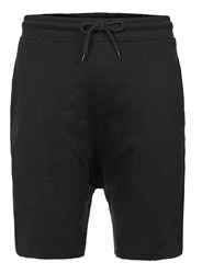 Topman Black Drop Crotch Jersey Shorts