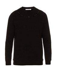 Givenchy Cuban Fit Barbed Wire Embroidered Sweatshirt Black