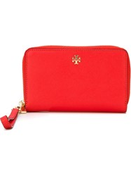 Tory Burch 'Robinson' Smartphone Wallet Red