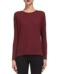 Whistles Pullover Sweater Burgundy