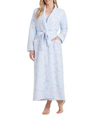 Carole Hochman Medallion Diamond Quilt Robe Blue Print