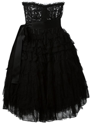 Dolce And Gabbana Lace Bustier Dress Black