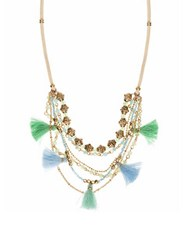 Lonna And Lilly Tassel Shaky Necklace Green