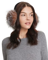 Surell Fox Fur Earmuffs Crystal