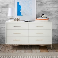City Storage 6 Drawer Dresser White West Elm
