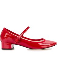 Repetto Strap Detail Ballerina Shoes Red