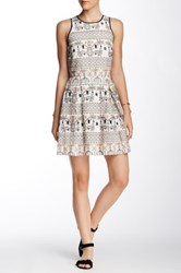 Single Dress Lena Beaded Fit And Flare Multi