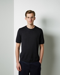Comme Des Garcons Fully Fashioned Short Sleeve Sweater Navy