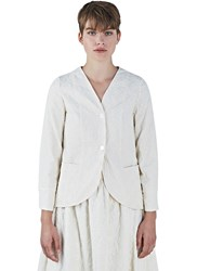 Renli Su Floral Embroidered Jacket White