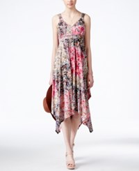 American Rag Printed Empire Waist Handkerchief Hem Maxi Dress Only At Macy's Pink Multi
