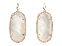 Kendra Scott Danielle Earrings Rose Gold Ivory Mother Of Pearl Earring