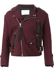 Matthew Miller 'Tyler' Biker Jacket Red