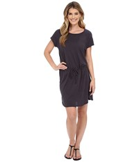 Allen Allen S S Raglan Dress Jet Grey Women's Dress Gray