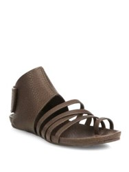 Pedro Garcia Jezabel Strappy Leather Ankle Cuff Sandals Black Brown