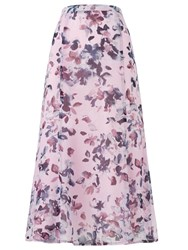 Eastex Watercolour Floral Skirt Multi Coloured