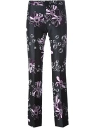 Giamba Flower Print Trousers Black