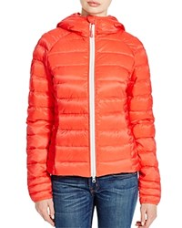 Canada Goose Brookvale Hooded Puffer Jacket Coral